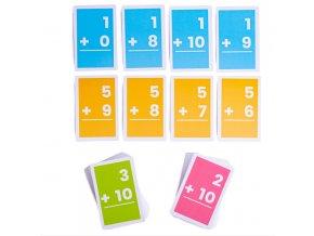 Bigjigs Toys Kartičky sčítání 1-10