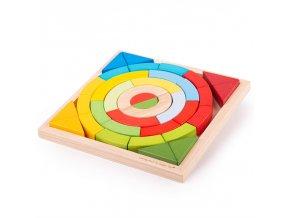 Bigjigs Toys Dřevěné skládací oblouky a trojúhelníky
