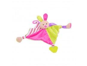 Bigjigs Baby Textilní hračka - Králíček Bella s kousátky