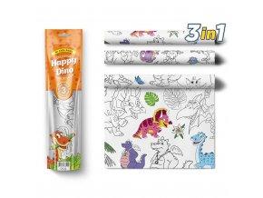 Pexi Malovací ubrusy 3 ks - Šťastní Dinosauři (Happy Dino)