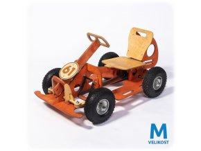 GOCar šlapací auto střední, oranžové