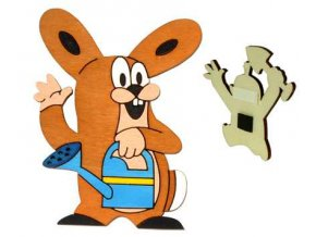 DoDo Dřevěná dekorační magnetka Krtkův kamarád zajíc