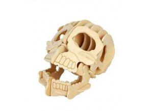 Woodcraft Dřevěné 3D puzzle lebka