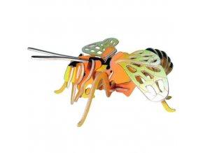 Woodcraft Dřevěné 3D puzzle malá včela