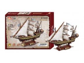 Small Foot Třívrstvé pěnové 3D puzzle historická plachetnice loď Mystic