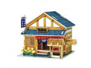 Robotime Dřevěná skládačka Japonský bar