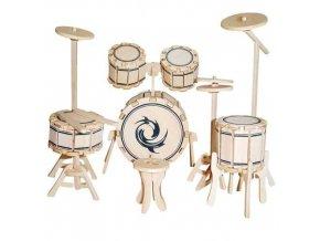 Woodcraft Dřevěné 3D puzzle bubny