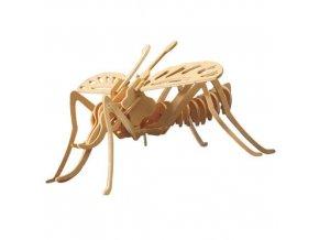 Woodcraft Dřevěné 3D puzzle moskyt