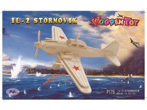 Woodcraft Dřevěné 3D puzzle letadlo IL2