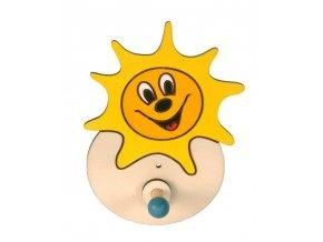 DoDo Dřevěný 1 věšáček sluníčko