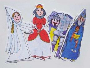 kralovna carodejbila pani rytir loutky pro deti marionetino (4)