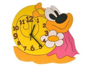 DoDo Dětské dřevěné hodiny šneková