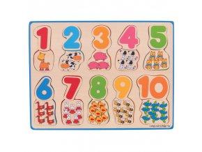 Bigjigs Toys Počítací puzzle 2