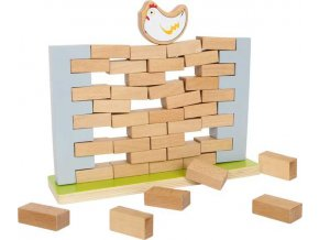 Small Foot Dřevěná motorická hra balanční zeď