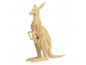 Woodcraft Dřevěné 3D puzzle klokan