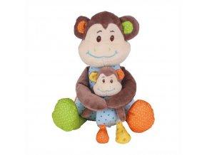 Bigjigs Baby Textilní postavička opička Cheeky