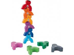 Small Foot Dřevěná motorická hra siláci s čísly