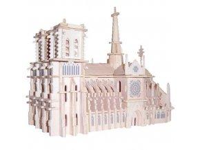 Woodcraft Dřevěné 3D puzzle Katedrála Notre Dame