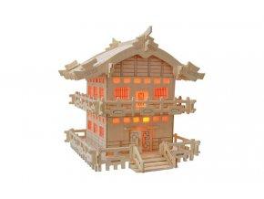 Woodcraft Dřevěné 3D puzzle japonská chatka