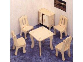 Woodcraft Dřevěné 3D puzzle jídelna