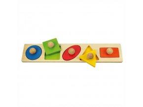 Bigjigs Baby Vkládací puzzle tvary