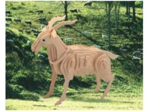 Woodcraft Dřevěné 3D puzzle koza