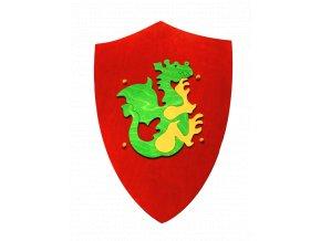 Fauna Dřevěný štít s drakem