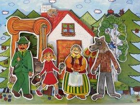 cervena karkulka ciapocka loutky babky marionetino (8)