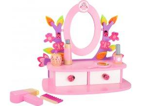 Small Foot Dřevěný kosmetický stoleček růžový