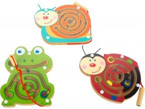 Magnetický labyrint zvířátka 1 ks šnek Magnetický labyrint zvířátka 1 ks šnek