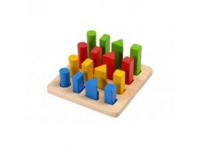 PlanToys Třídění tvarů a velikostí