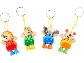 Přívěšek na klíče Flexibilní zvířata 1ks oranžová Přívěšek na klíče Flexibilní zvířata 1ks oranžová