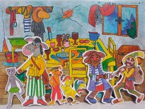 bremsti muzikanti zviratka a loupeznici zviratka a petrovsti loutky babky marionetino (6)