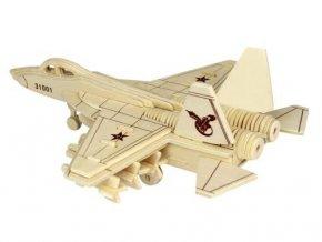 Woodcraft Dřevěné 3D puzzle stíhačka J 31