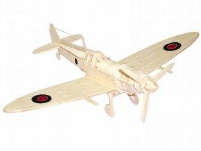 Woodcraft Dřevěné 3D puzzle spitfire