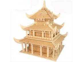 Woodcraft Dřevěné 3D puzzle Čínský Yueyang