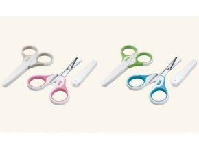 NUK Dětské zdravotní nůžky s krytem růžová NUK Dětské zdravotní nůžky s krytem růžová
