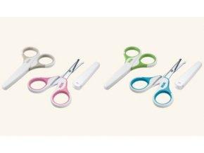 NUK Dětské zdravotní nůžky s krytem béžová NUK Dětské zdravotní nůžky s krytem béžová