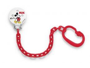 NUK Řetízek na dudlík Mickey Mouse červená NUK Řetízek na dudlík Mickey Mouse červená
