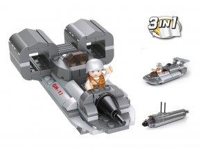 Sluban Army 9into1 M38-B0537F Tryskový člun 3v1