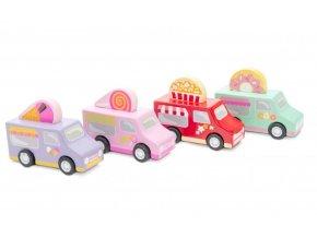 Le Toy Van cukrářský vůz 1ks růžová Le Toy Van cukrářský vůz 1ks růžová