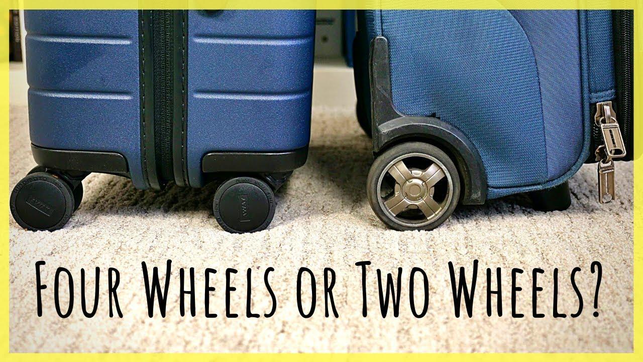 Kufr se dvěma nebo čtyřmi kolečky?