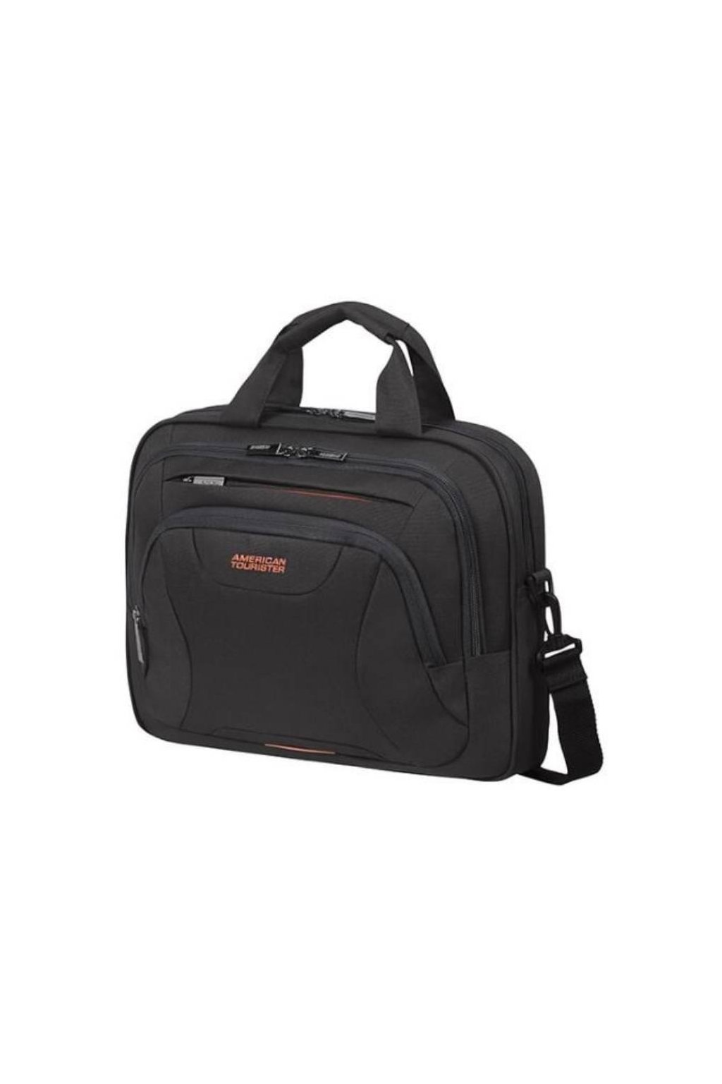 kufrland americantourister laptopbag13.3 14.1 black orange3