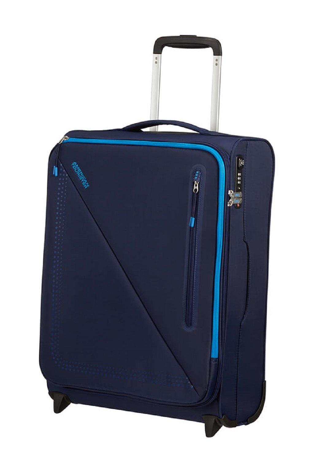 kufrland americantourister litevolt upright blue s 55