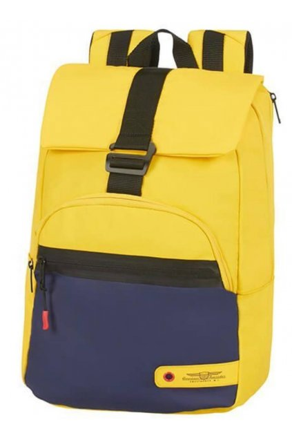 kufrland americantourister cityaim laptopbackpack14.1 blue yellow1