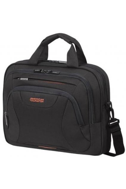 kufrland americantourister laptopbag13.3 14.1 black orange3