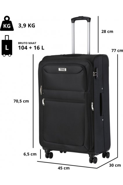 kufrland travelz softspinner black (3)