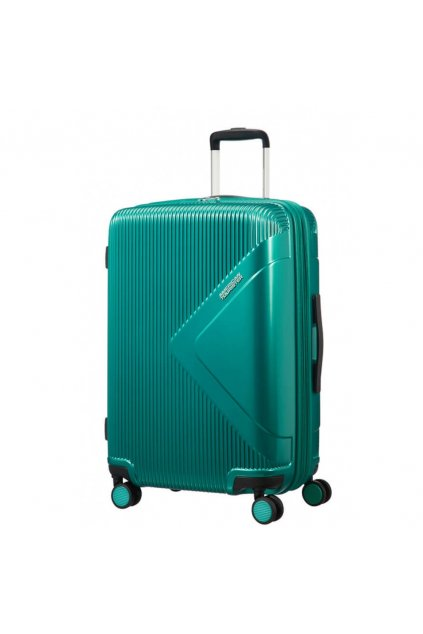 suitcase modern dream at 69cm 7081 liter expandable emerald green