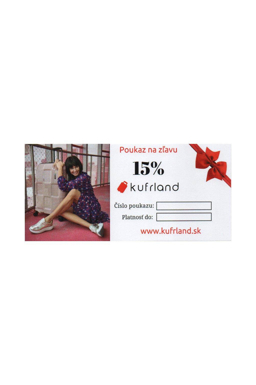 kufrland poukaz 15% sk