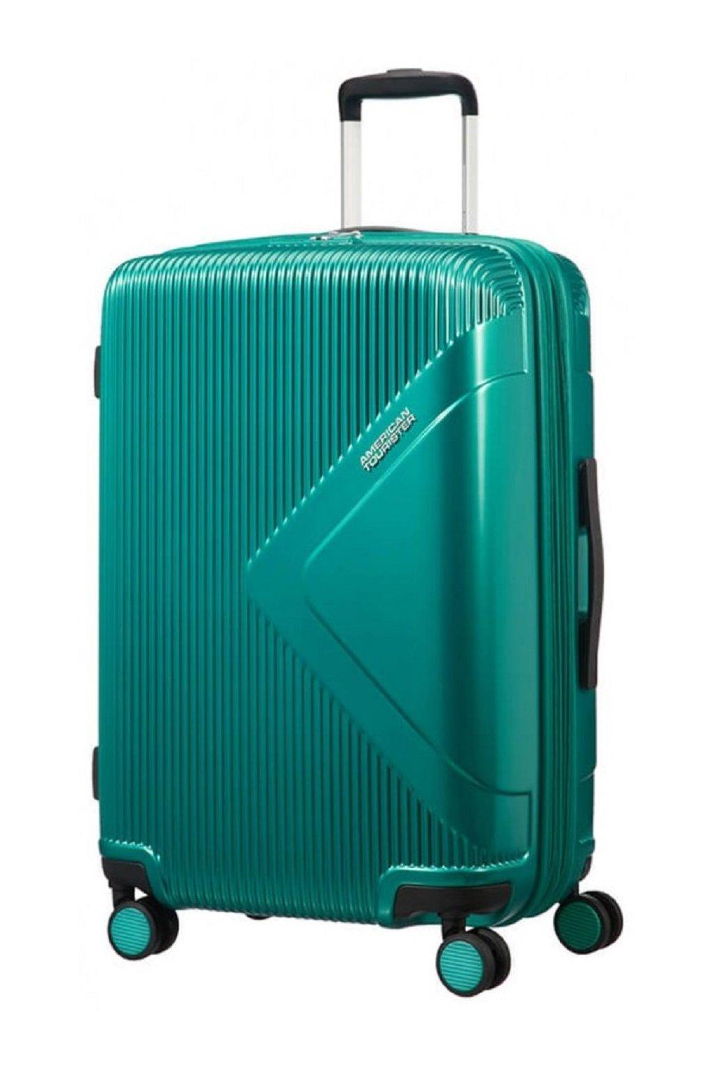 kufrland americantourister modern dream at 69cm 7081 liter expandable emerald green